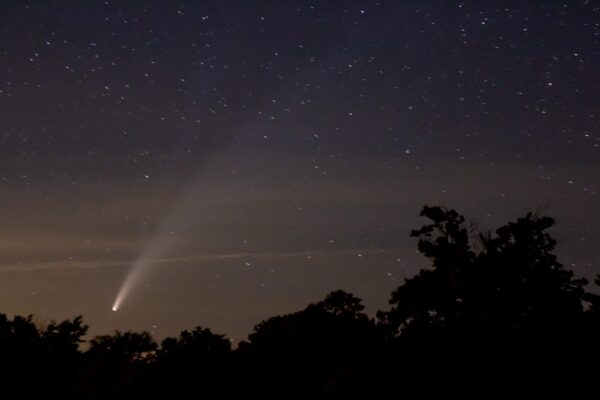 Neowise Comet over Cherry Springs State Park in Pennsylvania