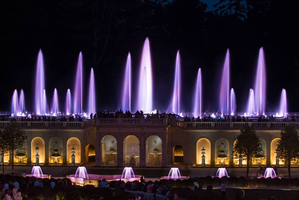 Longwood Gardens is one of the places you can see in Chadds Ford on a day trip from Philadelphia.