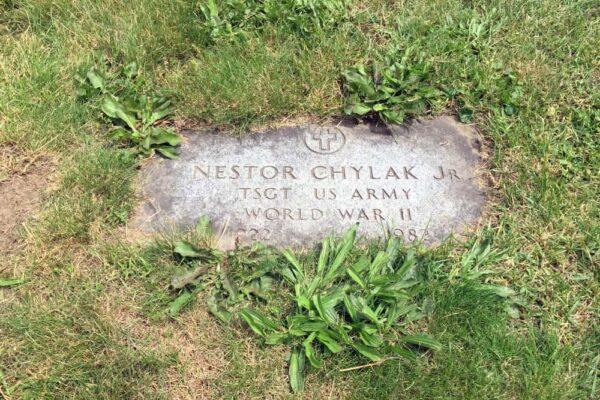 The grave of umpire Nestor Chylak in northeastern Pennsylvania