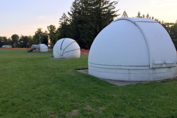 Astronomy domes at the Overnight Astronomy Observation Field in Cherry Springs State Park