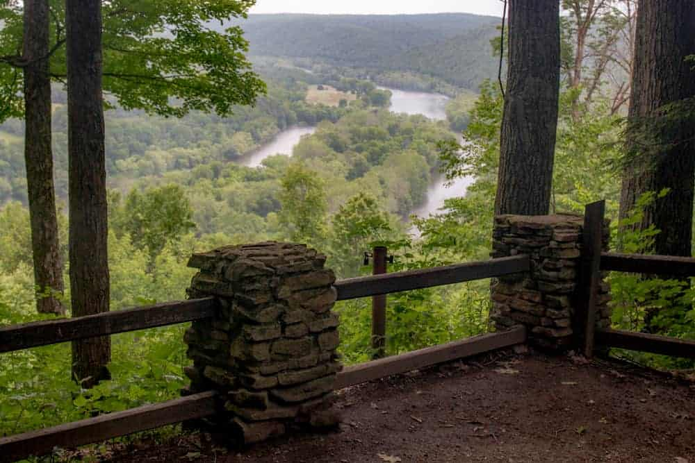 Overlooking the Allegheny River from the Tidioute Overlook in Warren County PA