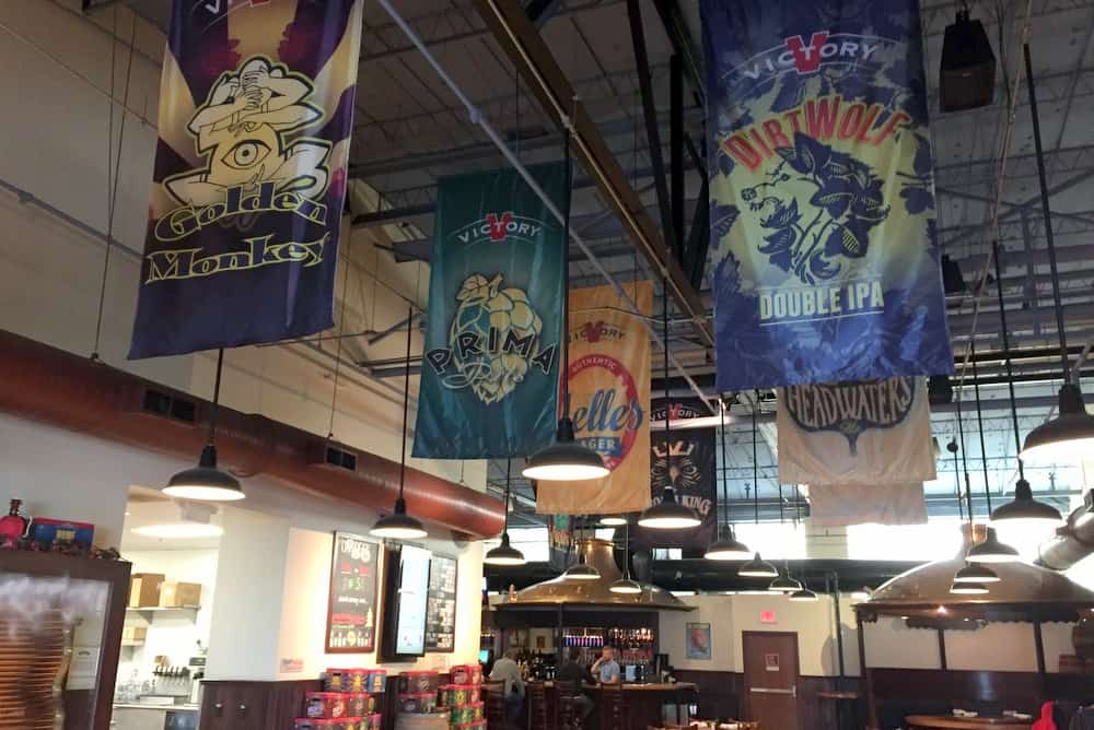 Inside the taproom at Victory Brewing Company