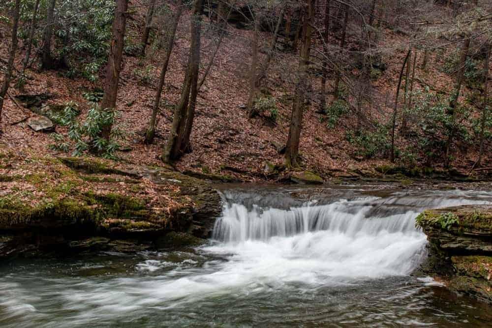 Wykoff Run Falls in Cameron County, PA