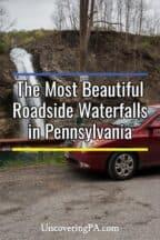 Roadside waterfalls in Pennsylvania