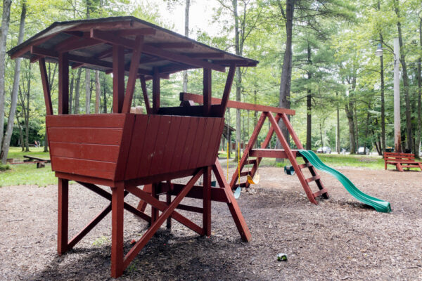 Playground at Bilger's Rocks in Clearfield County Pennsylvania