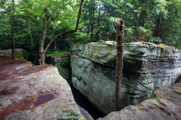 Large rocks at Bilger's Rocks in Grampian Pennsylvania