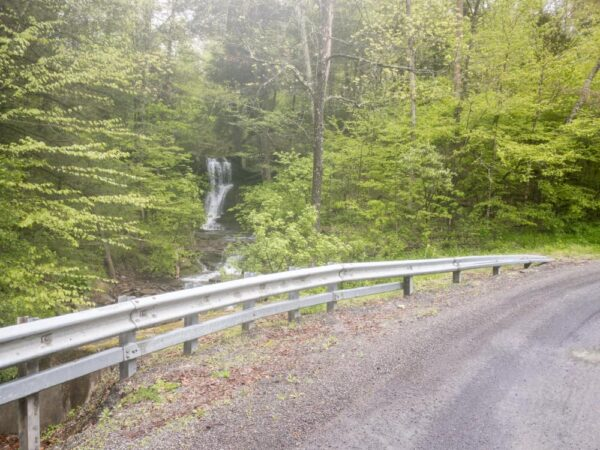 Bowling Alley Falls as seen from the road in Bradford County Pennsylvania