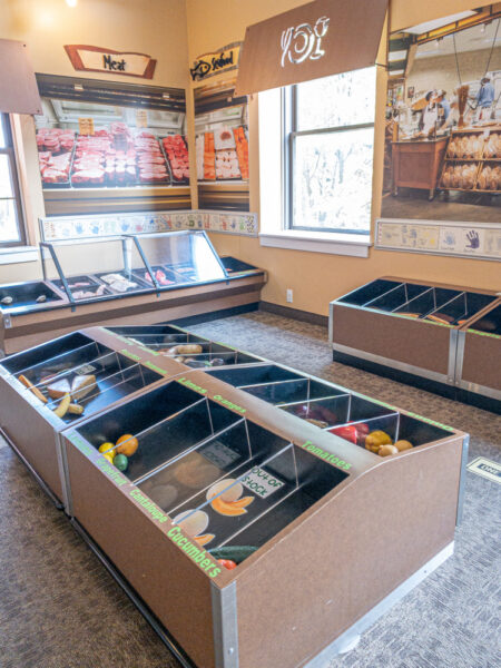 Grocery store in the Erie Children's Museum in northwestern Pennsylvania