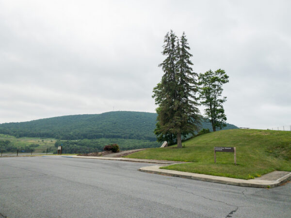 Parking for Tioga Reservoir Overlook in Tioga County PA
