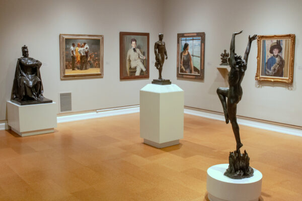 A gallery at the Westmoreland Museum of American Art in the Laurel Highlands of Pennsylvania