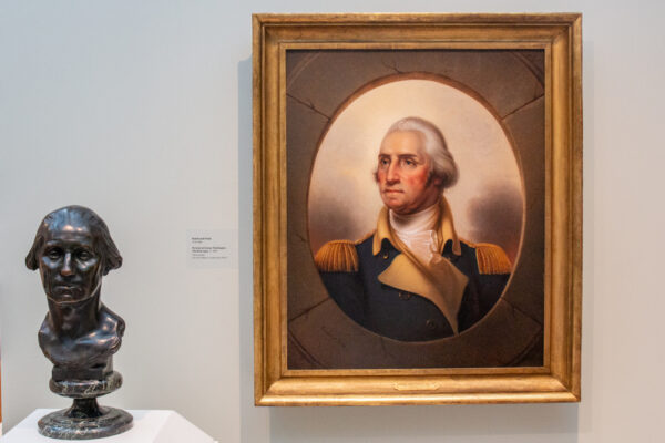 A painting of George Washington by Rembrandt Peale at the Westmoreland Museum of American Art in Greensburg PA