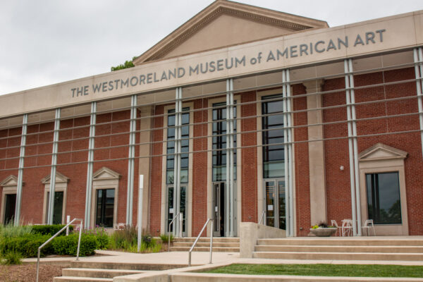 The entrance to the Westmoreland Museum of American Art in Greensburg PA