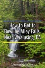 Bowling Alley Falls in Wyalusing, Pennsylvania