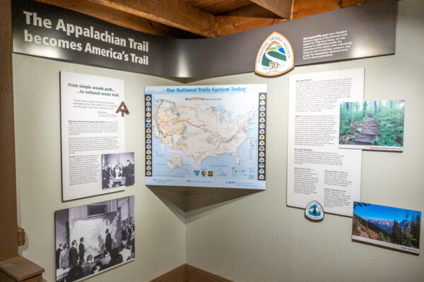 Signage in the Appalachian Trail Museum in Gardners PA