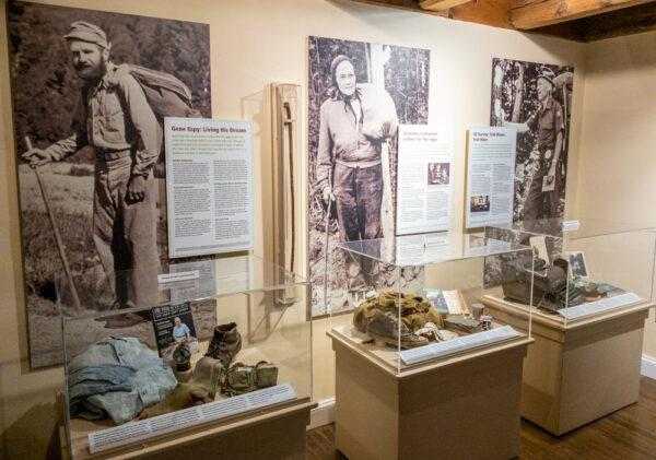 Appalachian Trail hikers at the Appalachian Trail Museum in Pennsylvania