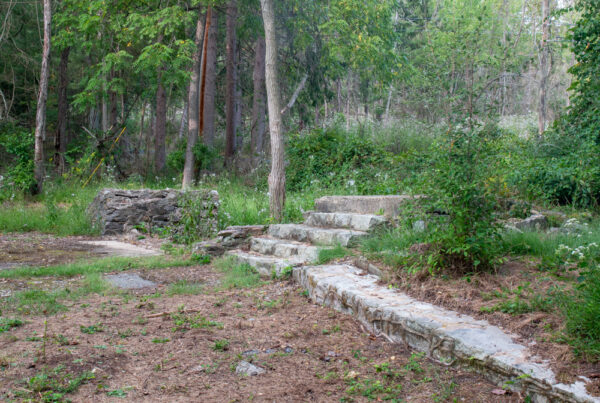 Concrete stair ruins at Camp Michaux near Pine Grove Furnace State Park