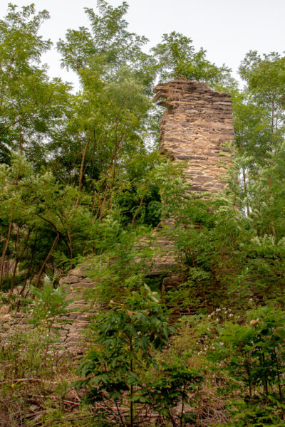 Ruins of stone barn at in Michaux State Forest in Cumberland County, PA