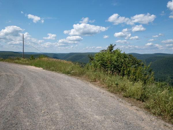 Road at Lebo Vista in Lycoming County PA