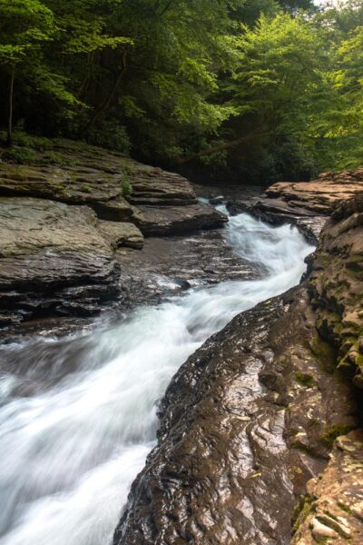Natural Waterslides in Ohiopyle State Park