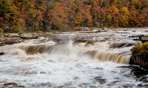 Fall at Ohiopyle Falls in the Laurel Highlands of Pennsylvania