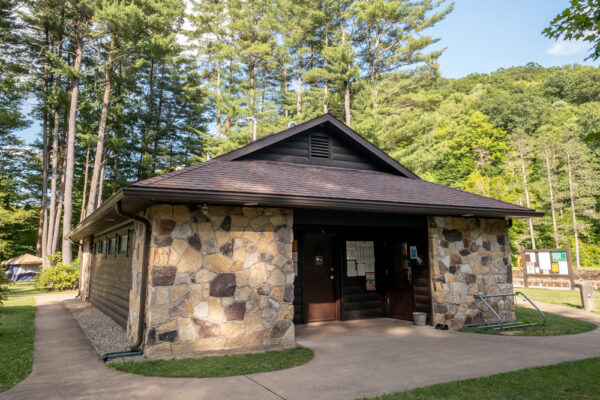 Bathhouse at the Ole Bull State Park campground