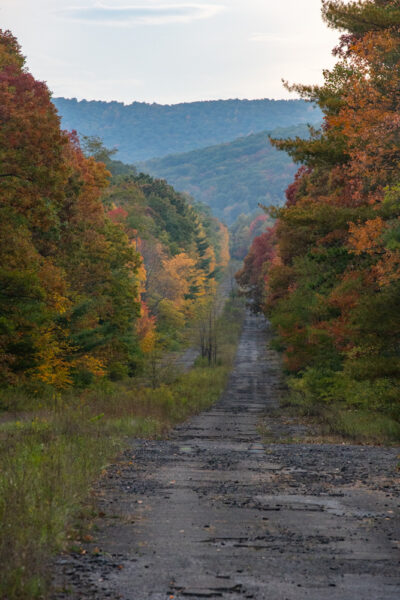 Abandoned PA Turnpike in the Fall
