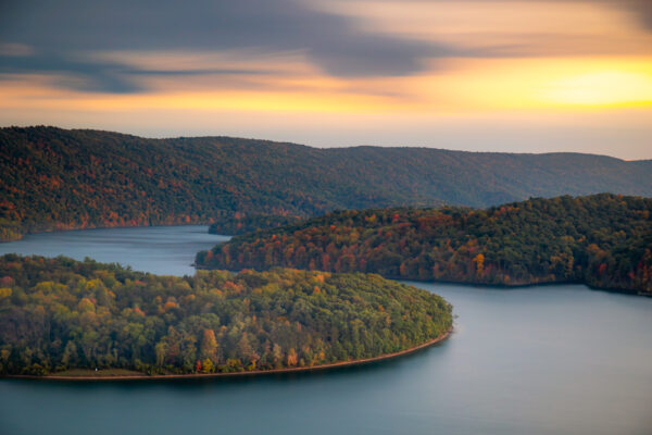 Sunset at Hawn's Overlook at Raystown Lake