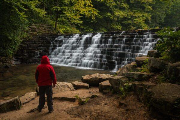 Jones Mill Dam during Fall in the Laurel Highlands