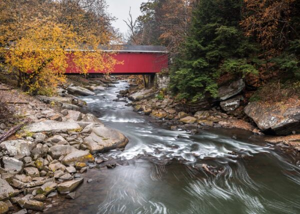 McConnells Mill Covered Bridge in PA
