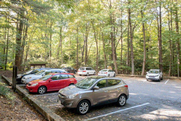 Parking area at Nolde Forest near Reading PA