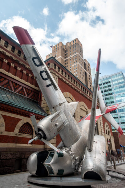 Plane Crash art at the Pennsylvania Academy of Fine Arts Museum in Philly