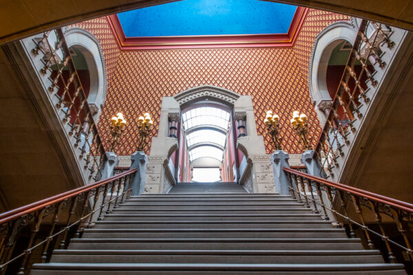Staircase inside the Pennsylvania Academy of Fine Arts in Philly