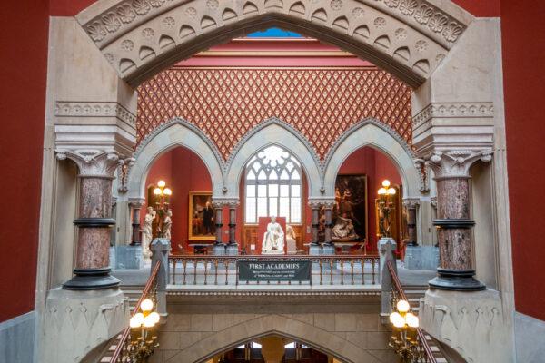Inside the Pennsylvania Academy of Fine Arts in Philadelphia Pennsylvania