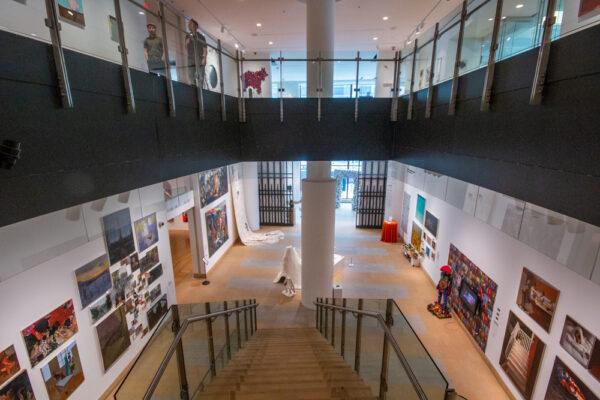 Inside the Hamilton Building at the Pennsylvania Academy of Fine Arts in Philadelphia, PA