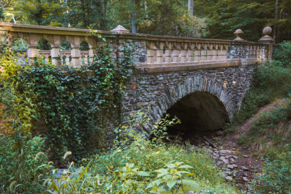 Stone bridge in Ridley Creek State Park in PA