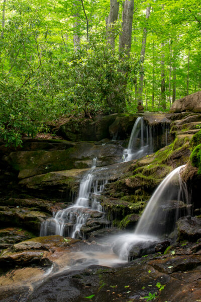 Stewarton Falls in the Bear Run Nature Preserve in Fayette County PA