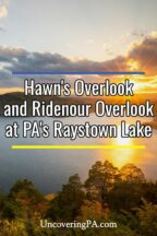 Hawn's Overlook at Raystown Lake in Huntingdon County PA