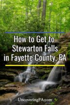 Stewarton Falls in Fayette County, Pennsylvania