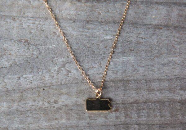 Gold Pennsylvania blank necklace