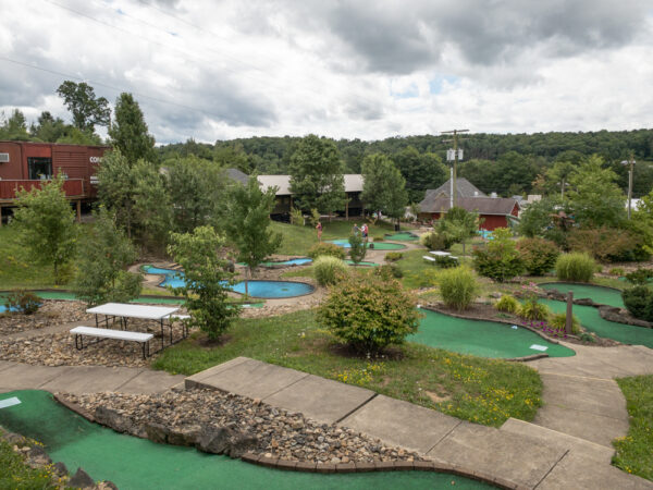 Mini golf course at Doolittle Station in DuBois, PA
