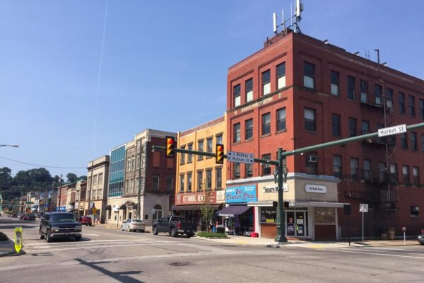 Stores in downtown Kittanning, Pennsylvania