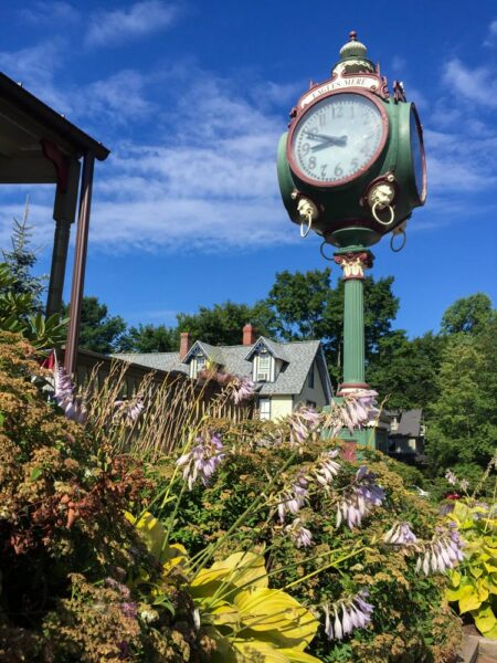 Clock in Eagles Mere a Small Town in Pennsylvania