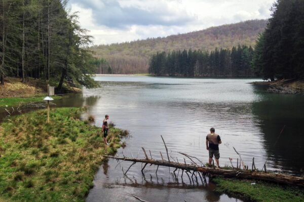 Fishermen at the Marilla Reservoir in McKean County PA