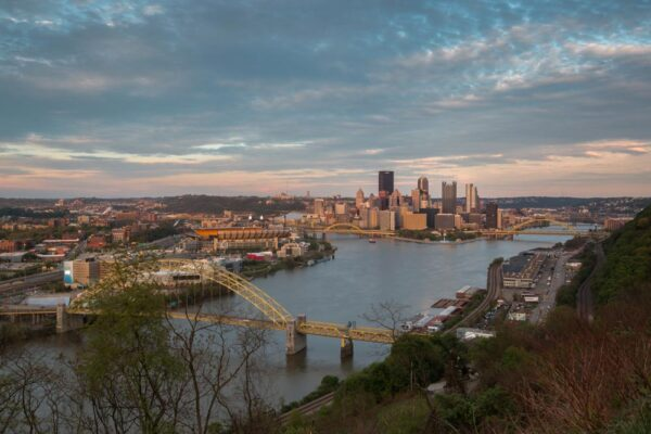 Sunset from West End Overlook in Pittsburgh PA