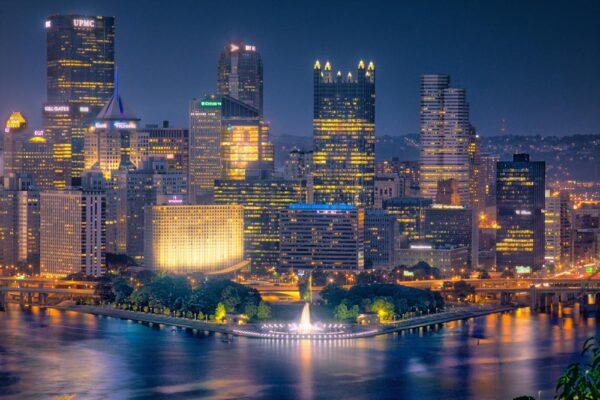 Pittsburgh's Skyline from West End-Elliott Park