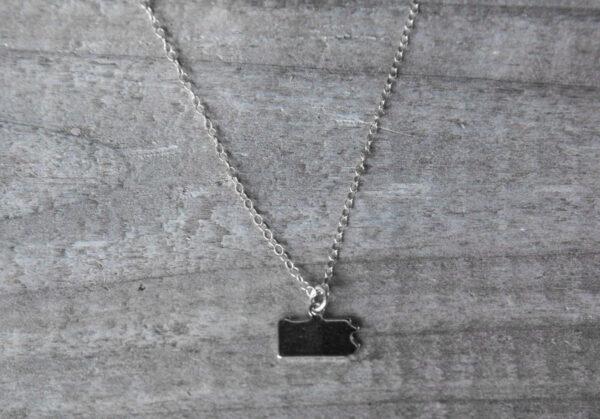 Silver Pennsylvania blank necklace