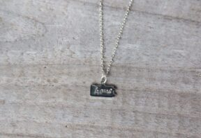 Silver plated Pennsylvania necklace with hand-stamped home