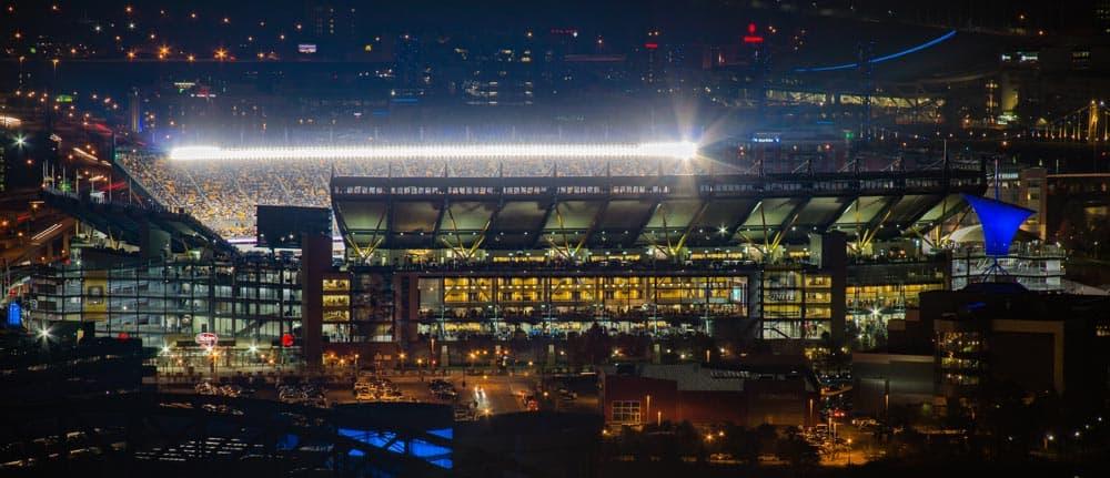 Heinz Field from West End Overlook in Pittsburgh Pennsylvania