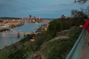 Enjoying the Incredible Views from the West End Overlook in Pittsburgh, PA