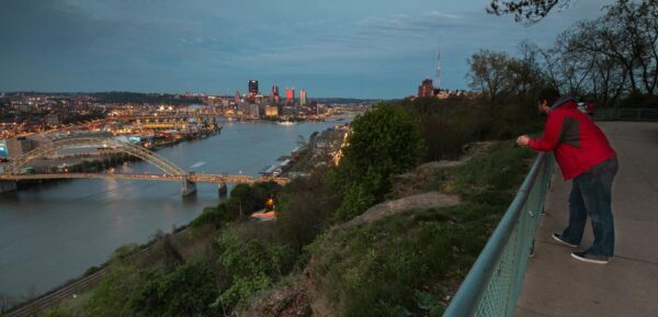 View from the West End Overlook Pittsburgh PA